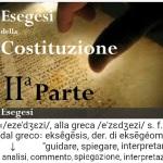 2a Parte - Esegesi della Costituzione