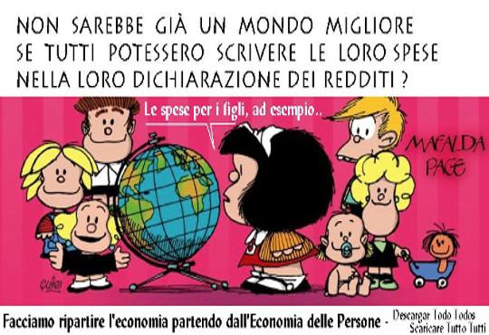 Vignetta Mafalda – Spese in dichiarazione dei redditi