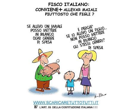 @STT Fisco E FIGLI rid - Conviene allevare maiali piuttosto che figli (ART 53)