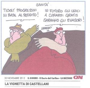 Castellani - Sanità migliore per gli evasori ok