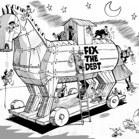 """""""Fissare il Debito"""", è la parola d'ordine con cui gli altri Paesi cercano di fissare le condizioni economiche dei Paesi debitori. C'è solo quel metodo?"""